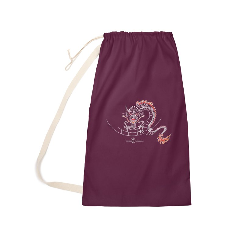 Dragon Smile (white) Accessories Laundry Bag Bag by Good Morning Smile