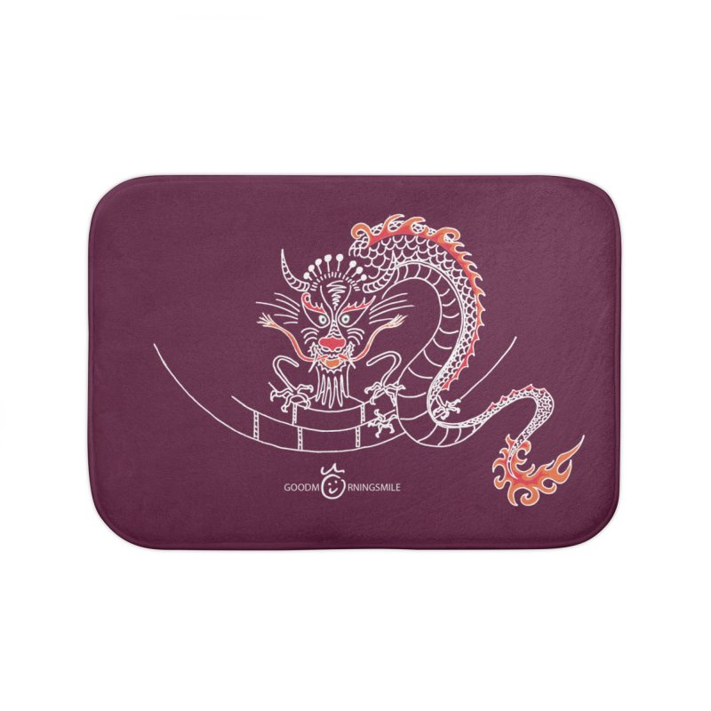 Dragon Smile (white) Home Bath Mat by Good Morning Smile