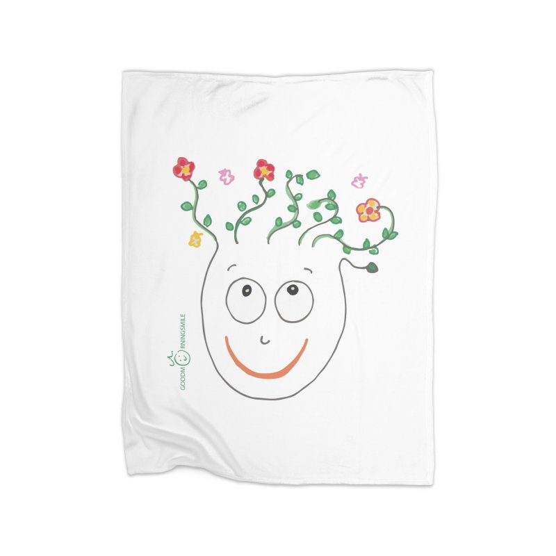 ThinkingGreen Smile Home Fleece Blanket Blanket by Good Morning Smile