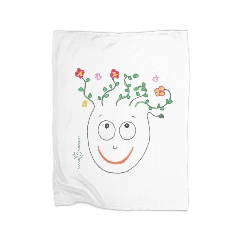 ThinkingGreen Smile Home Fleece Blanket Blanket by Good Morning Smile
