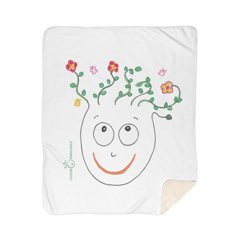 ThinkingGreen Smile Home Sherpa Blanket Blanket by Good Morning Smile