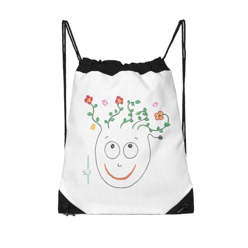 ThinkingGreen Smile Accessories Drawstring Bag Bag by Good Morning Smile