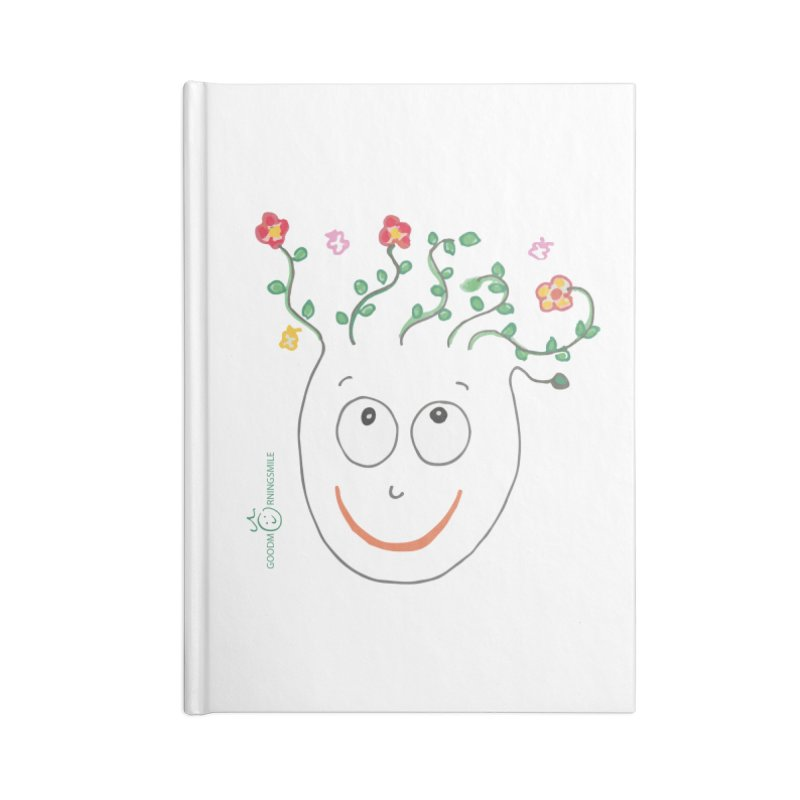 ThinkingGreen Smile Accessories Blank Journal Notebook by Good Morning Smile