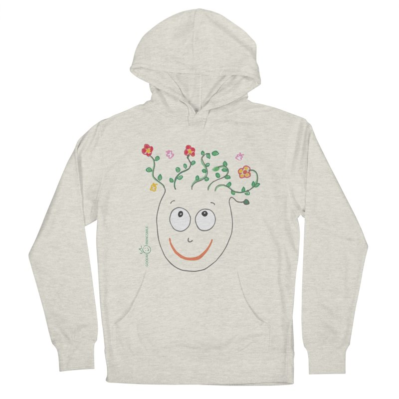 ThinkingGreen Smile Men's French Terry Pullover Hoody by Good Morning Smile