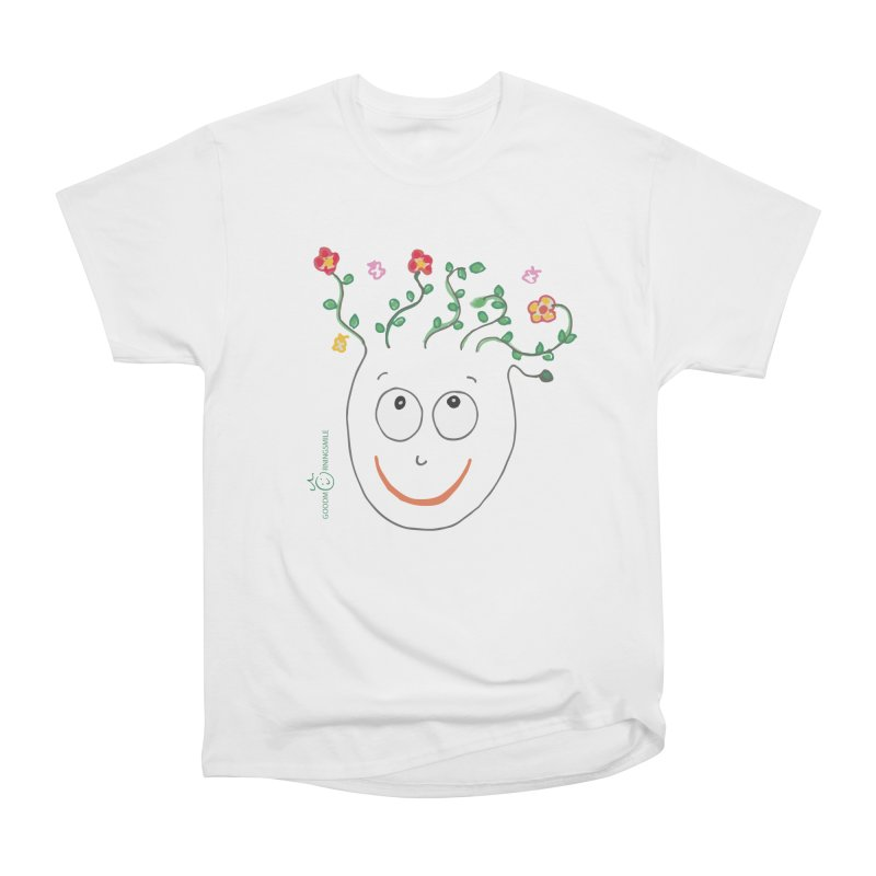 ThinkingGreen Smile Women's Heavyweight Unisex T-Shirt by Good Morning Smile