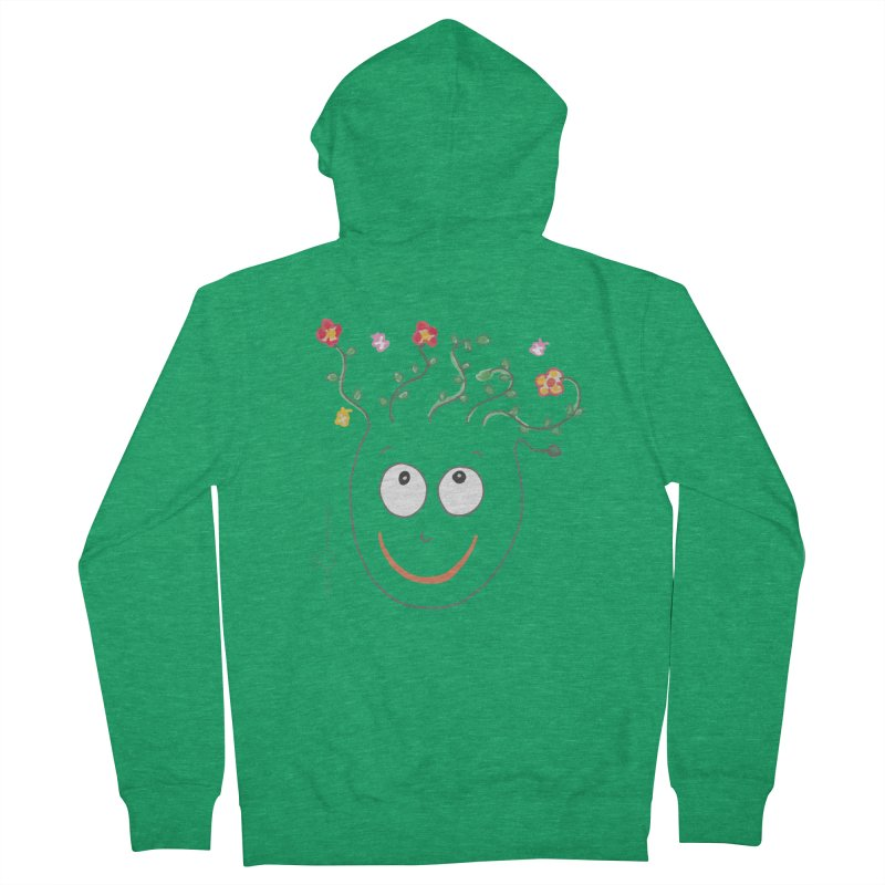 ThinkingGreen Smile Men's Zip-Up Hoody by Good Morning Smile
