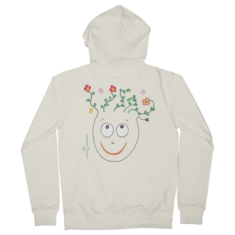 ThinkingGreen Smile Men's French Terry Zip-Up Hoody by Good Morning Smile
