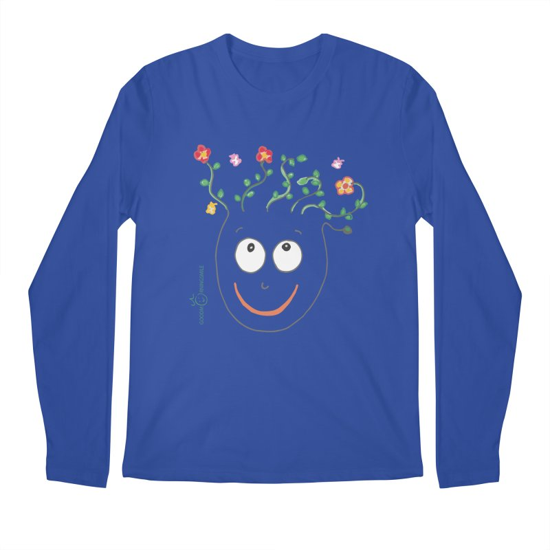 ThinkingGreen Smile Men's Regular Longsleeve T-Shirt by Good Morning Smile