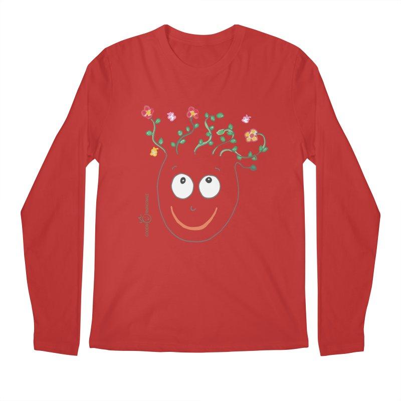 ThinkingGreen Smile Men's Regular Longsleeve T-Shirt by Good Morning Smile