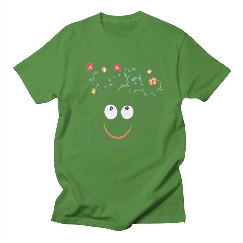 ThinkingGreen Smile Men's Regular T-Shirt by Good Morning Smile