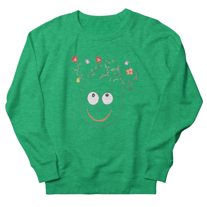 ThinkingGreen Smile Men's French Terry Sweatshirt by Good Morning Smile
