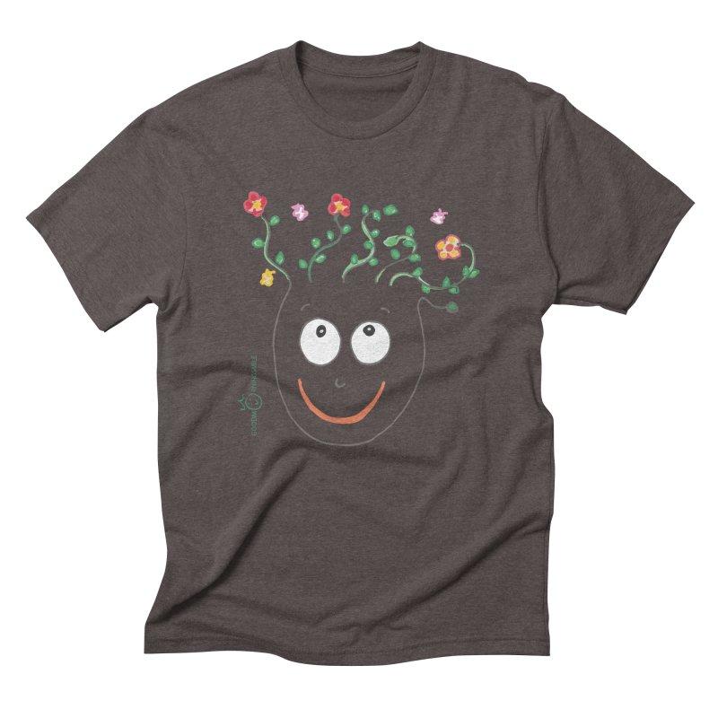 ThinkingGreen Smile Men's Triblend T-Shirt by Good Morning Smile