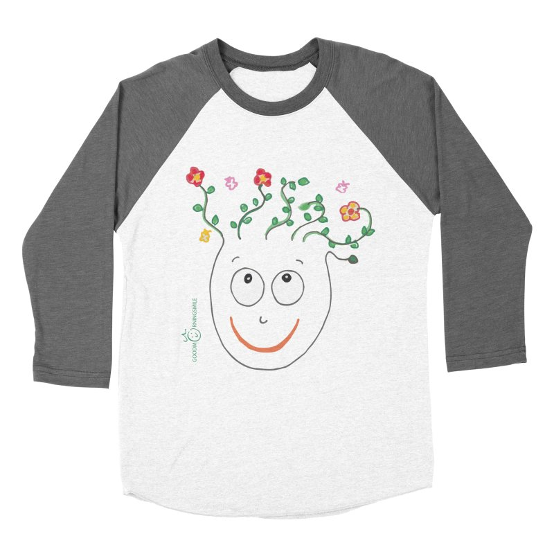 ThinkingGreen Smile Men's Baseball Triblend Longsleeve T-Shirt by Good Morning Smile