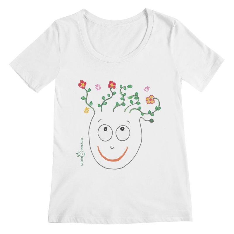 ThinkingGreen Smile Women's Regular Scoop Neck by Good Morning Smile