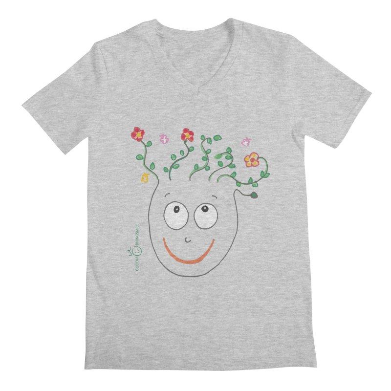 ThinkingGreen Smile Men's Regular V-Neck by Good Morning Smile