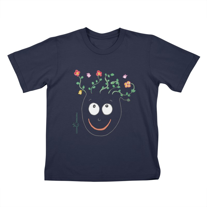 ThinkingGreen Smile Kids T-Shirt by Good Morning Smile