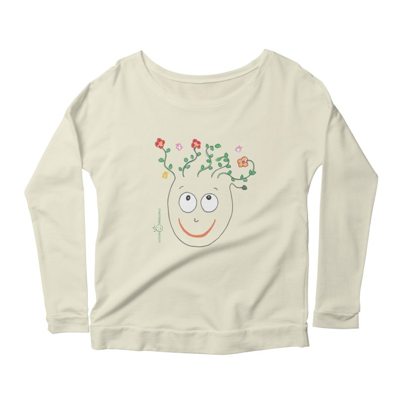 ThinkingGreen Smile Women's Scoop Neck Longsleeve T-Shirt by Good Morning Smile