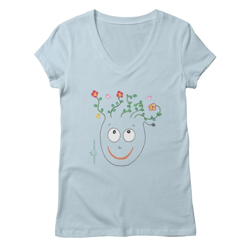 ThinkingGreen Smile Women's V-Neck by Good Morning Smile