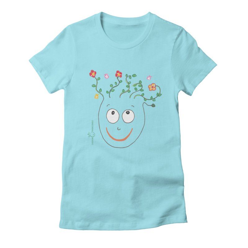 ThinkingGreen Smile Women's Fitted T-Shirt by Good Morning Smile