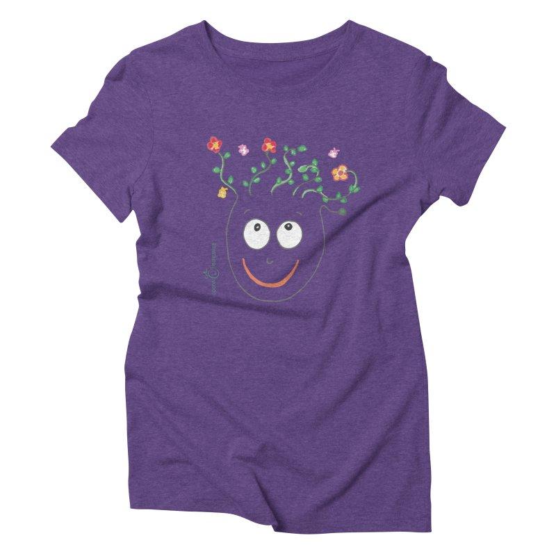 ThinkingGreen Smile Women's Triblend T-Shirt by Good Morning Smile