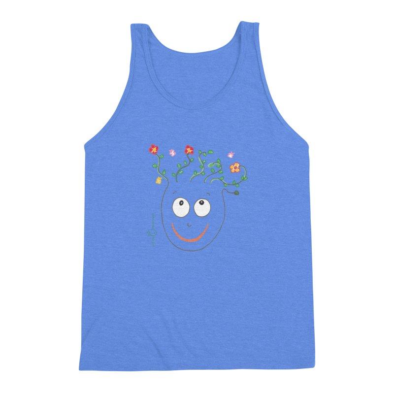 ThinkingGreen Smile Men's Triblend Tank by Good Morning Smile