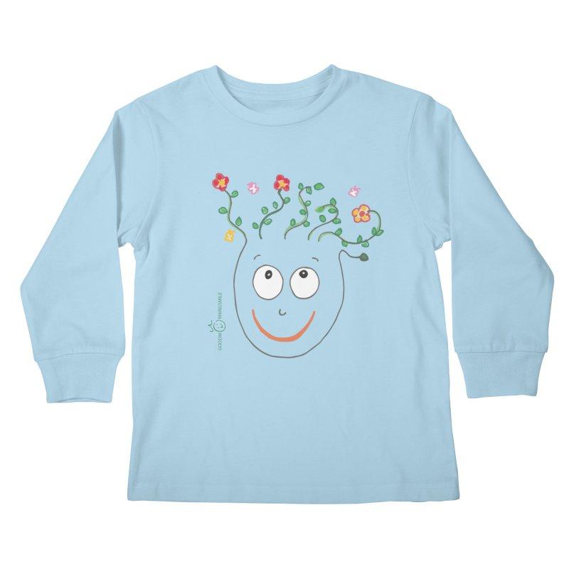 ThinkingGreen Smile Kids Longsleeve T-Shirt by Good Morning Smile