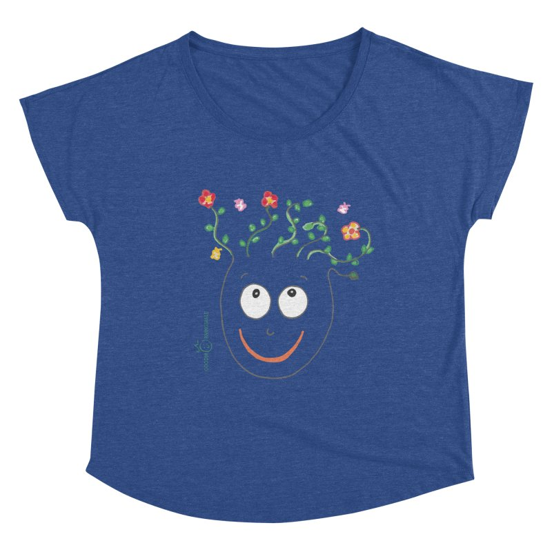 ThinkingGreen Smile Women's Scoop Neck by Good Morning Smile