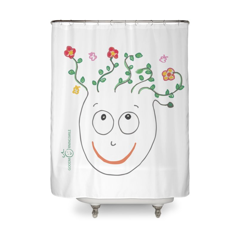 ThinkingGreen Smile Home Shower Curtain by Good Morning Smile
