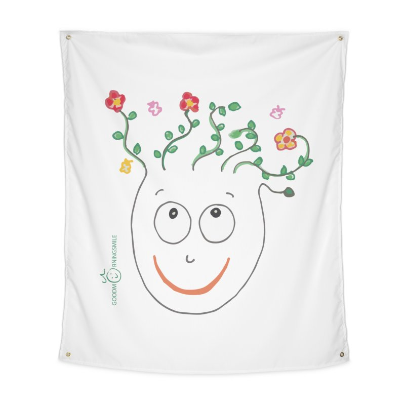 ThinkingGreen Smile Home Tapestry by Good Morning Smile