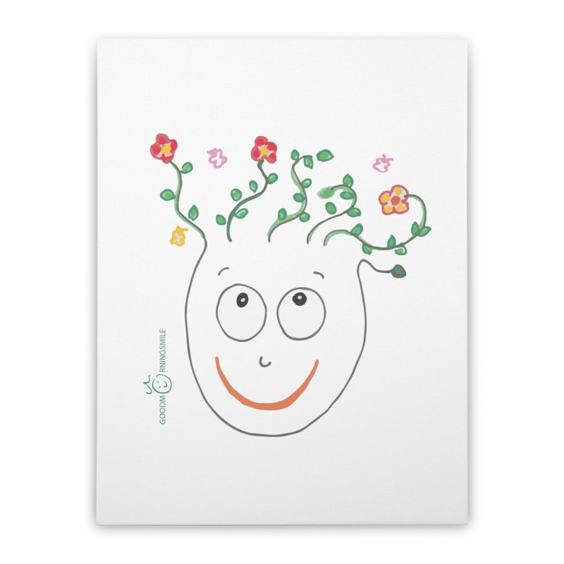 ThinkingGreen Smile Home Stretched Canvas by Good Morning Smile