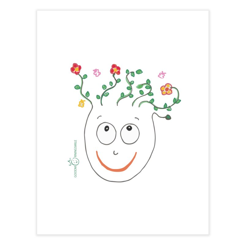 ThinkingGreen Smile Home Fine Art Print by Good Morning Smile