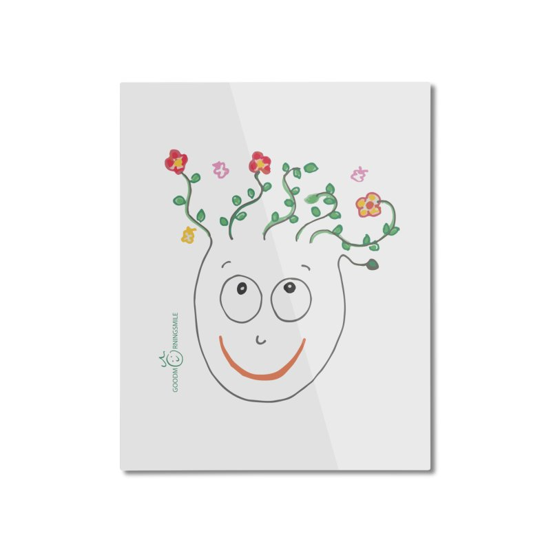 ThinkingGreen Smile Home Mounted Aluminum Print by Good Morning Smile