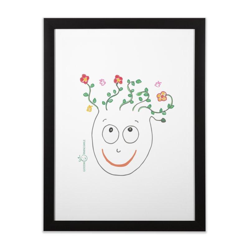 ThinkingGreen Smile Home Framed Fine Art Print by Good Morning Smile
