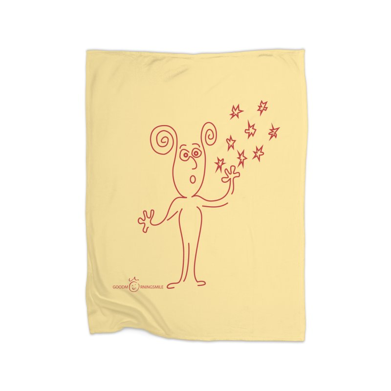 Wondering Home Fleece Blanket Blanket by Good Morning Smile