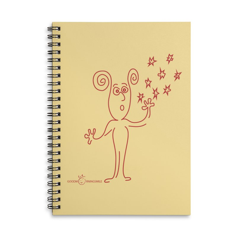 Wondering Accessories Lined Spiral Notebook by Good Morning Smile