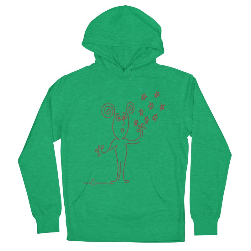 Wondering Women's French Terry Pullover Hoody by Good Morning Smile