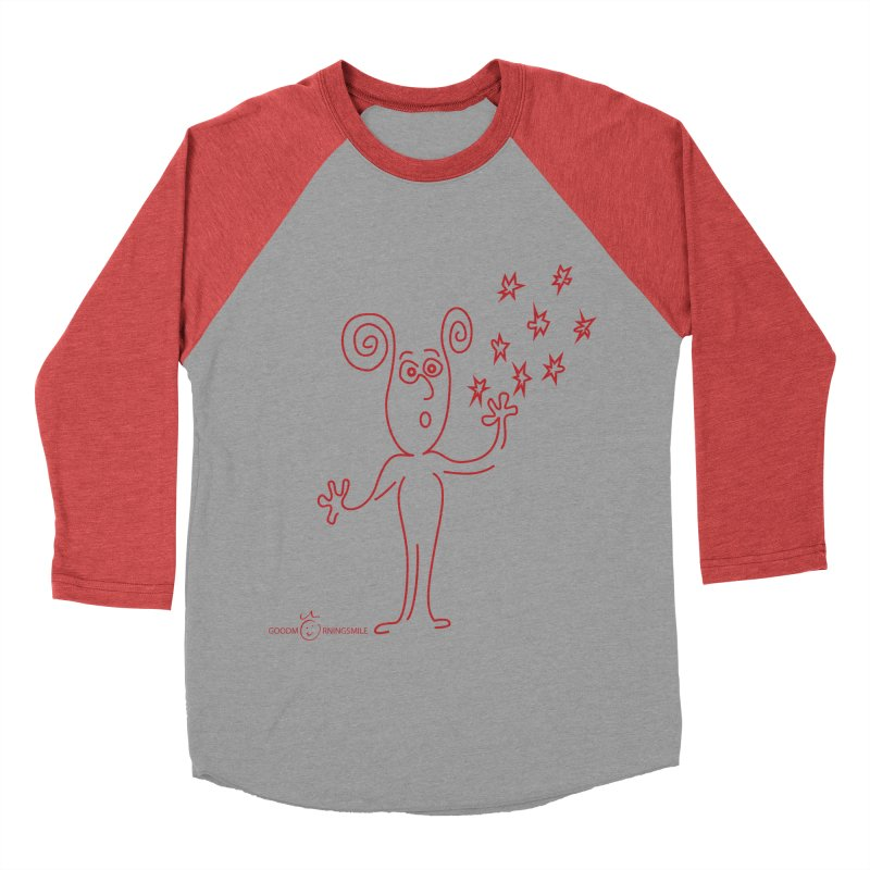Wondering Women's Baseball Triblend Longsleeve T-Shirt by Good Morning Smile