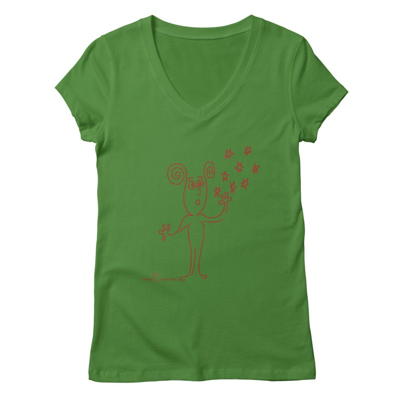 Wondering Women's Regular V-Neck by Good Morning Smile