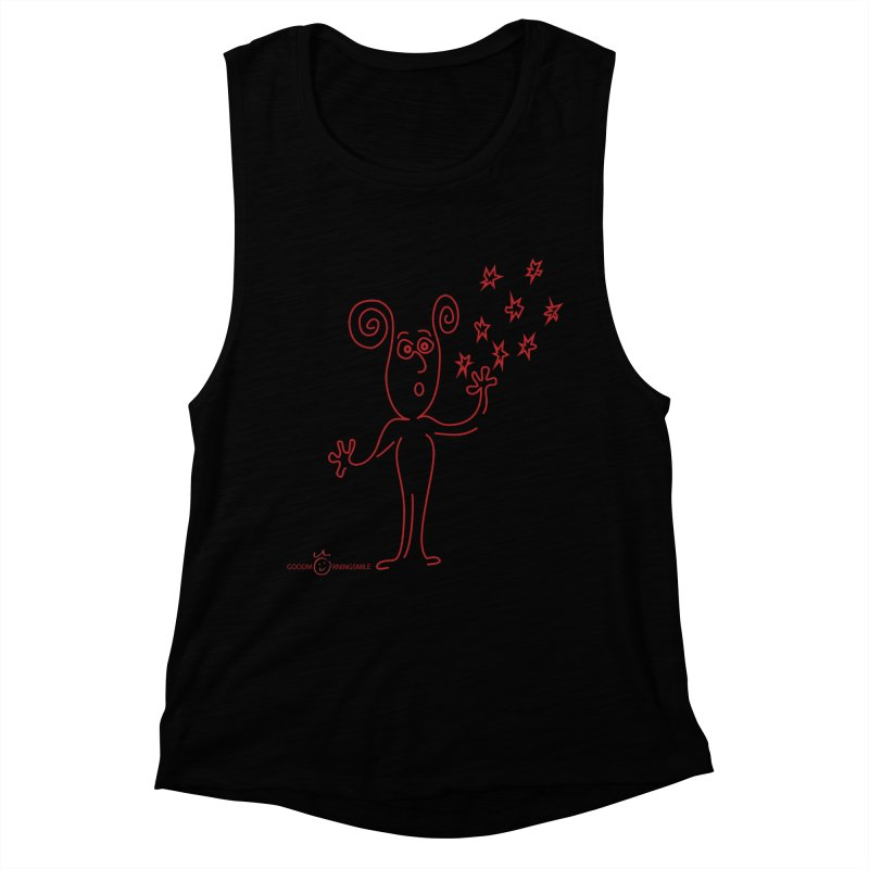 Wondering Women's Muscle Tank by Good Morning Smile