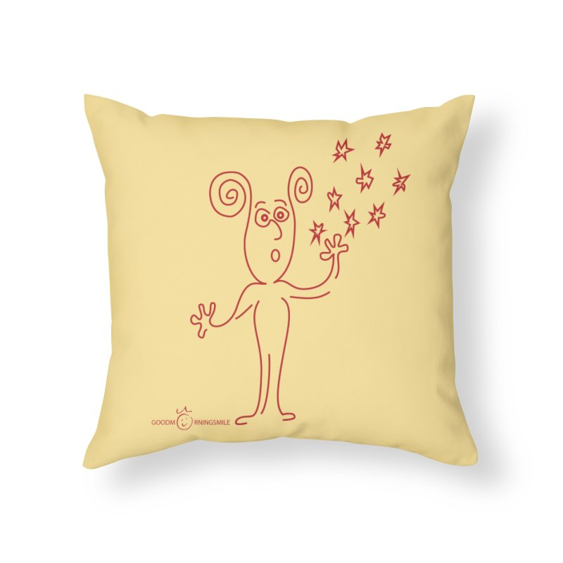 Wondering Home Throw Pillow by Good Morning Smile