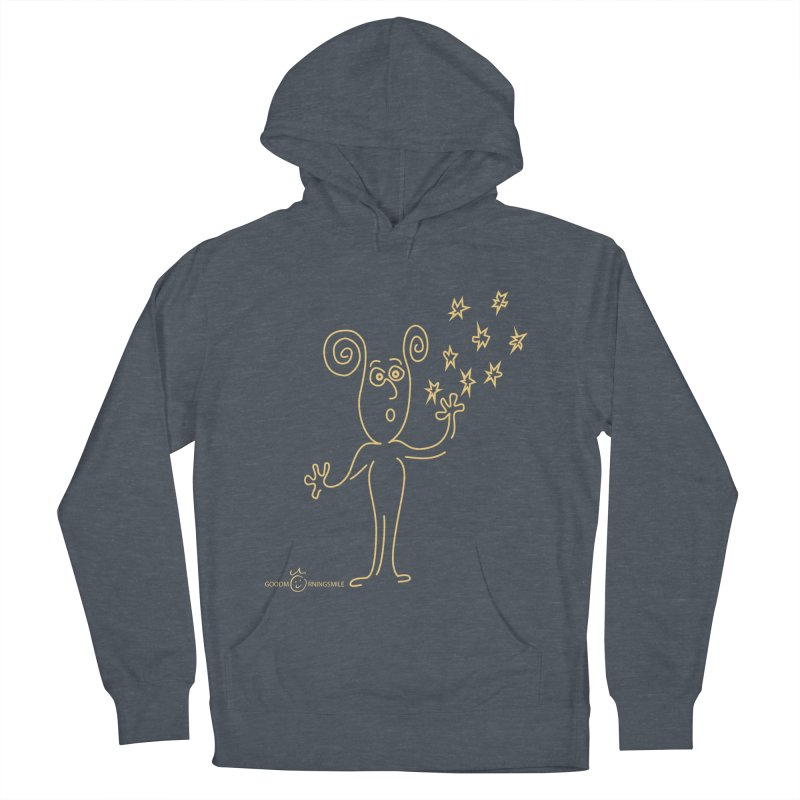 Wondering b Women's French Terry Pullover Hoody by Good Morning Smile