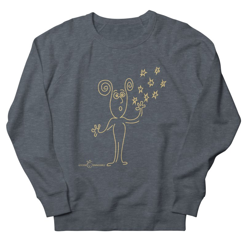 Wondering b Men's French Terry Sweatshirt by Good Morning Smile