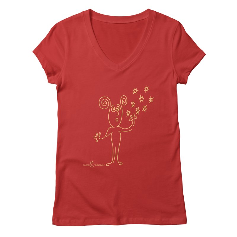 Wondering b Women's Regular V-Neck by Good Morning Smile