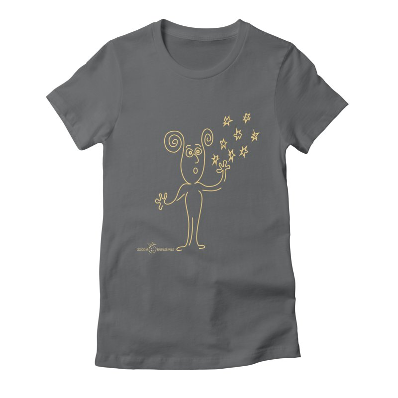 Wondering b Women's Fitted T-Shirt by Good Morning Smile