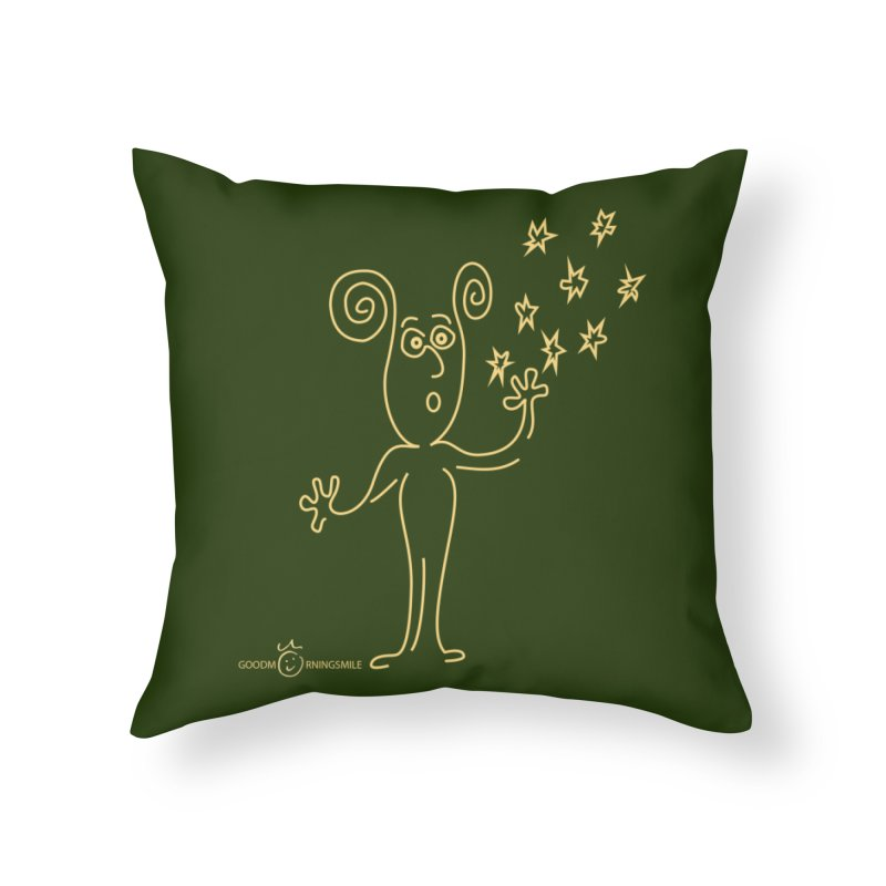 Wondering b Home Throw Pillow by Good Morning Smile