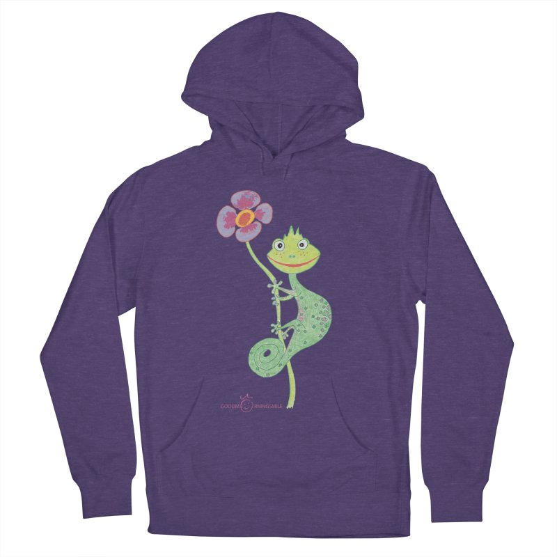 Chameleon Smile Men's French Terry Pullover Hoody by Good Morning Smile