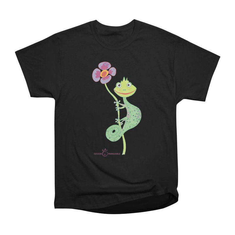 Chameleon Smile Men's Heavyweight T-Shirt by Good Morning Smile