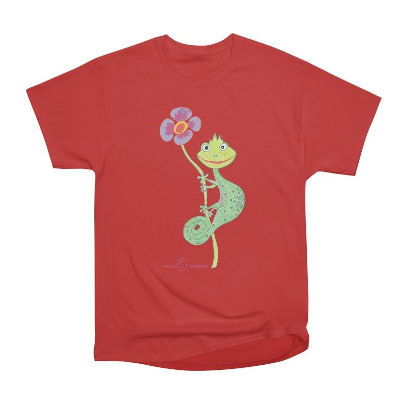 Chameleon Smile Women's Heavyweight Unisex T-Shirt by Good Morning Smile