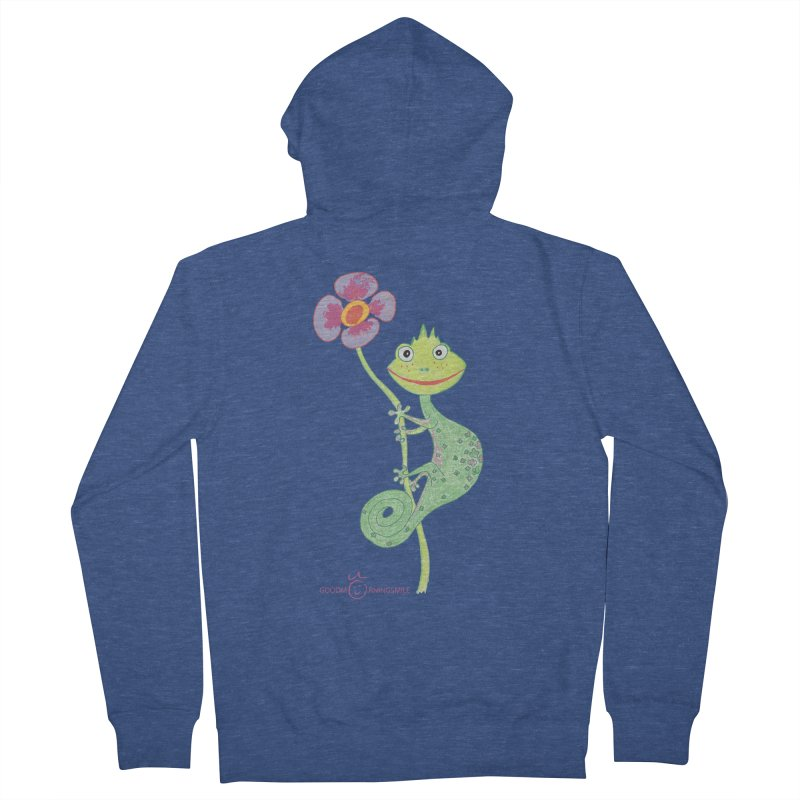 Chameleon Smile Women's French Terry Zip-Up Hoody by Good Morning Smile