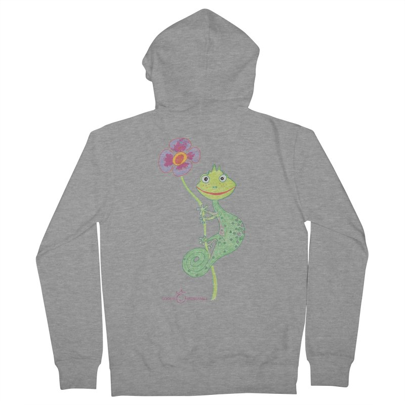 Chameleon Smile Men's French Terry Zip-Up Hoody by Good Morning Smile